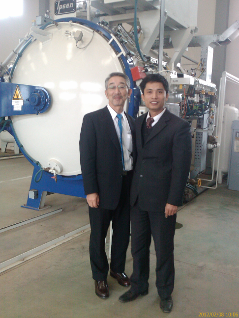 Meeting with President of Kobayashi Precision industry Co.